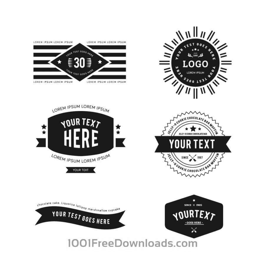 Free Vectors: Vintage Logos.