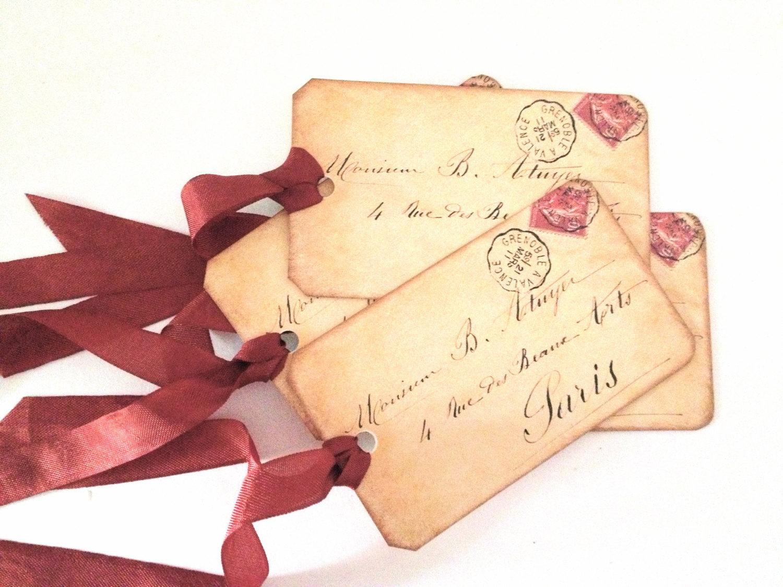 Vintage love letter clipart.