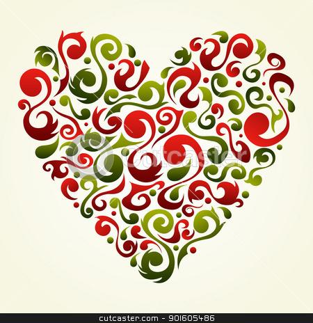 Valentines vintage love heart background stock vector.