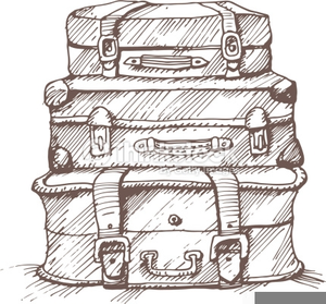 Vintage Luggage Clipart.