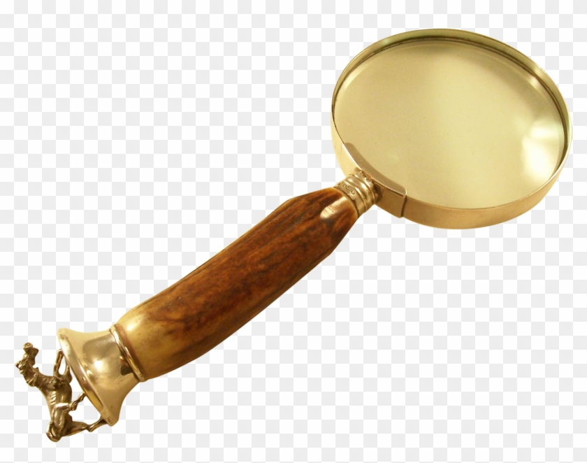Stunning Vintage Magnifying Glass With Antler Handle.