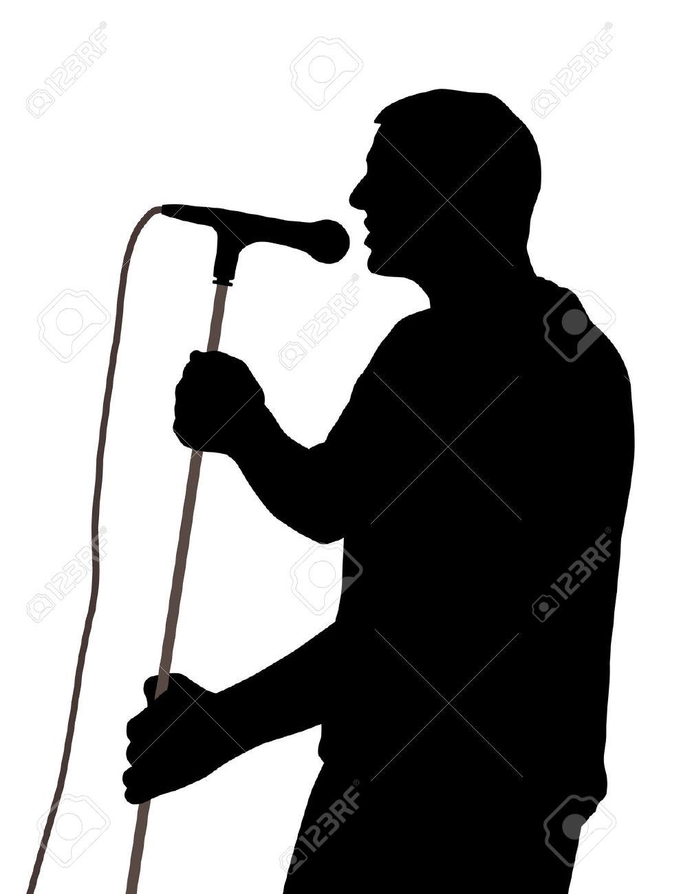 Clipart Man Singing.