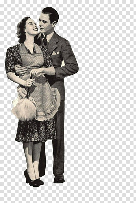 Vintage Files, grayscale graphy of man and woman standing.