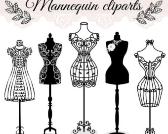 Wire Dress Mannequin Clipart.