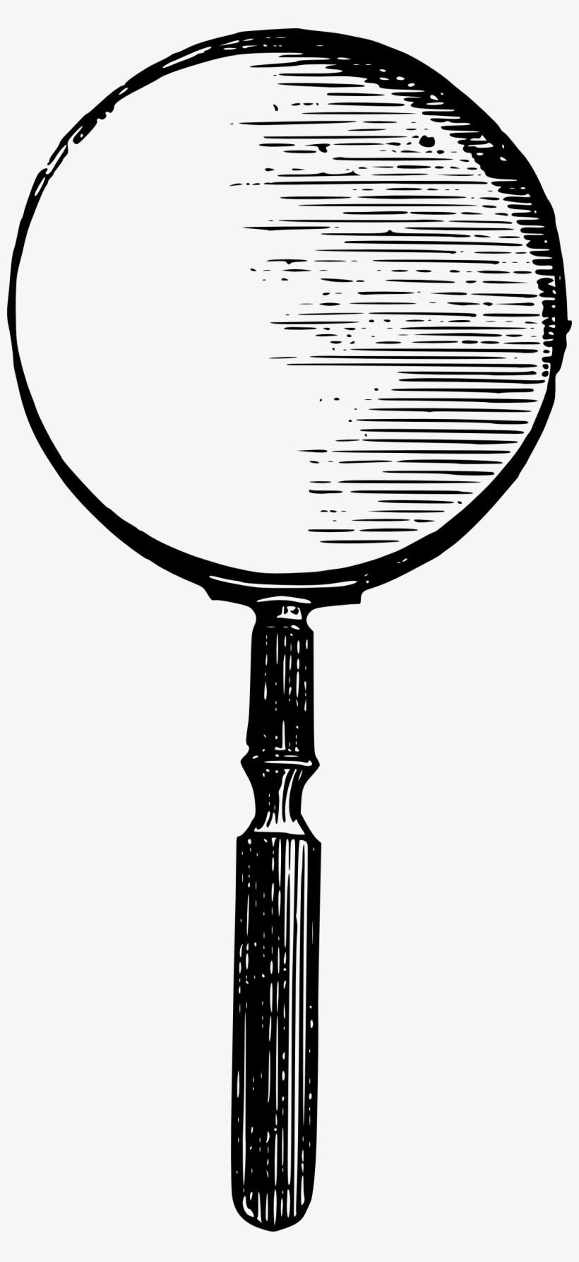 Vintage Magnifying Glass Vector Clip Art.