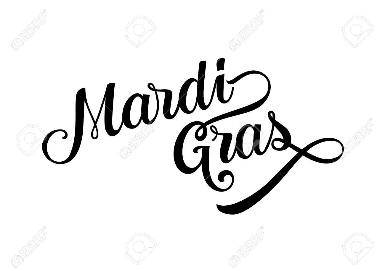 Mardi Gras Clipart Black And White.