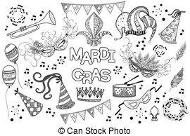 mardi gras design. Mardi gras design of beautiful girl.