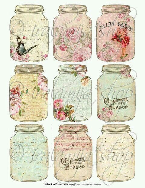 Vintage jar clip art.