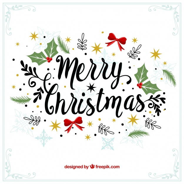 Merry christmas decorative vintage background Vector.