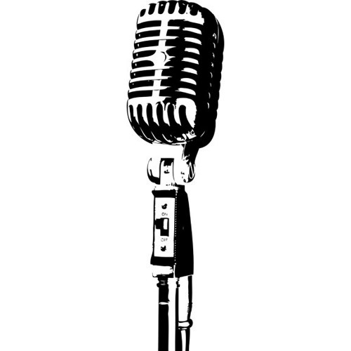 old microphone silhouette.