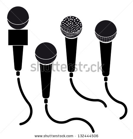 Microphone Silhouette Stock Images, Royalty.