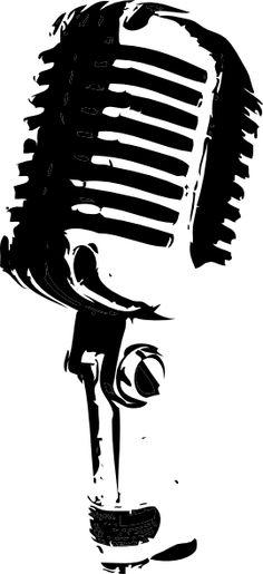 vintage microphone.