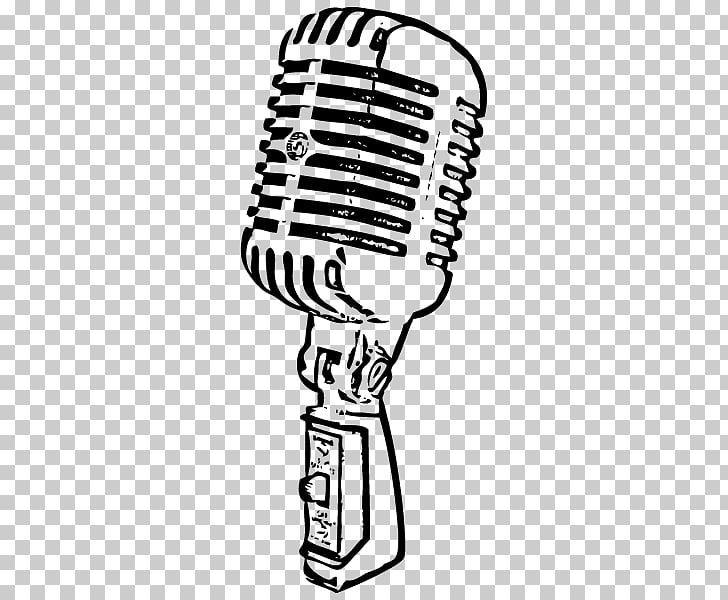 Wireless microphone Drawing, vintage radio PNG clipart.