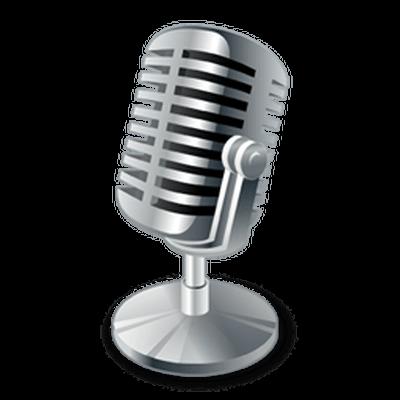 Vintage Microphone transparent PNG.