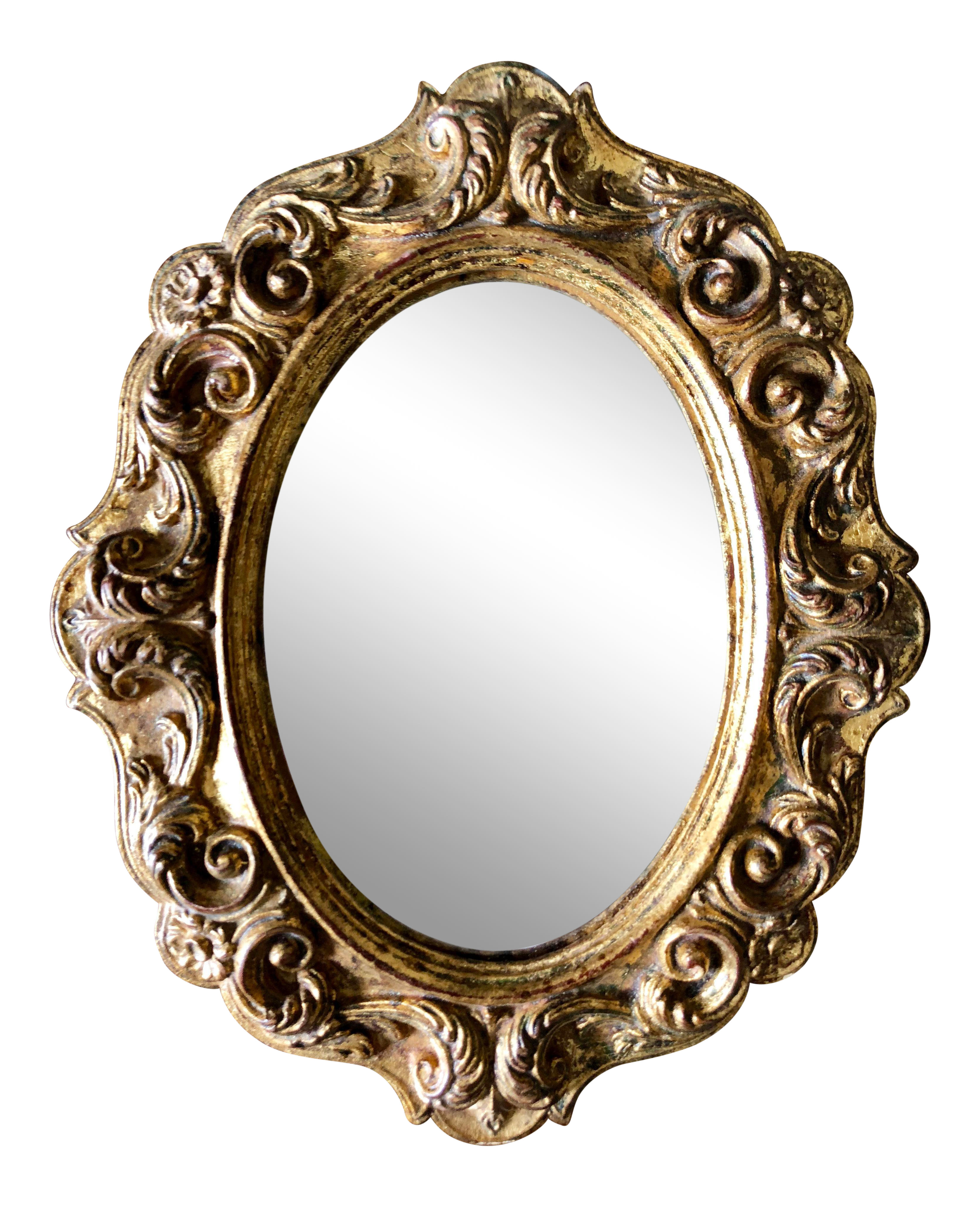 Vintage Oval Florentine Gilt Mirror.