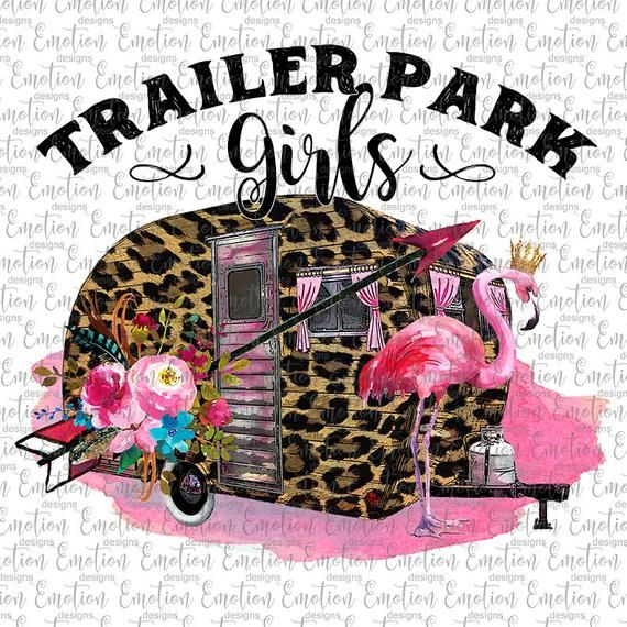 Trailer park girls Leopard Trailer Camping clipart, instant.
