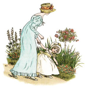 vintage mother and child clipart #6