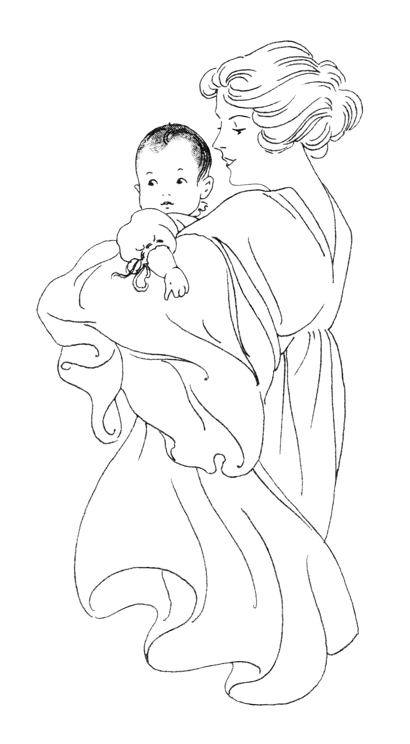 Similiar Newborn And Mother Clip Art Keywords.