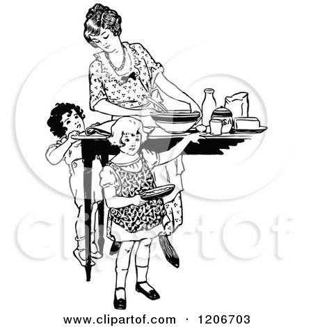Royalty Free Mother Illustrations by Prawny Vintage Page 1.