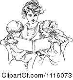 vintage mother and child clipart #15