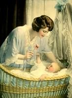 vintage mother and child clipart #12