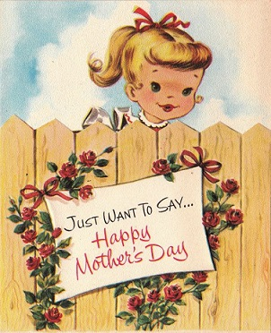 Free Vintage Mother's Day Cards Clipart.