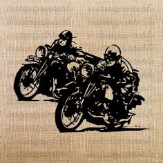 Old motorcycle download, motorcycle clipart, clip art, fabric.