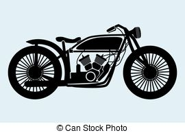 Vintage motorcycle clipart #18