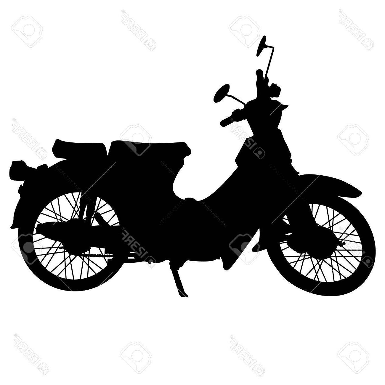HD Vintage Motorcycle Silhouette Images » Free Vector Art.