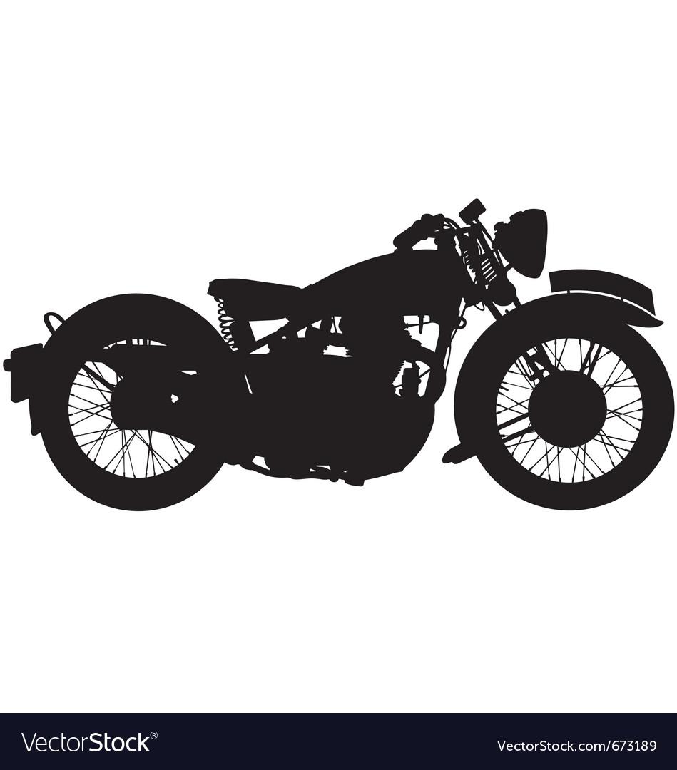 Classic motorbike silhouette.
