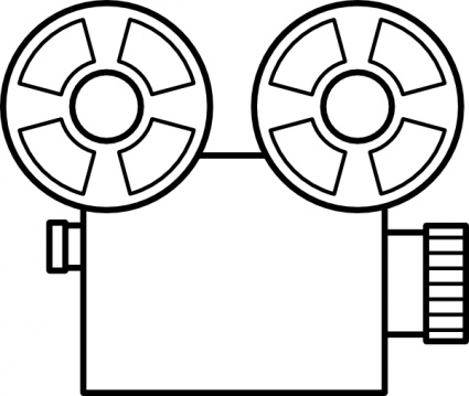 Vintage Movie Camera Clip Art.