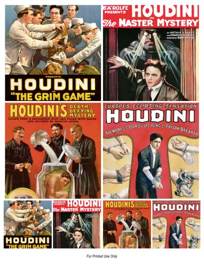 Vintage Houdini Movie Clipart Digital Download.