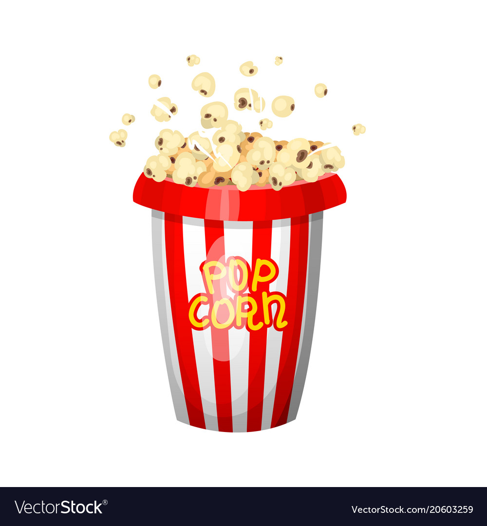 Vintage popcorn for movie entertainment and.