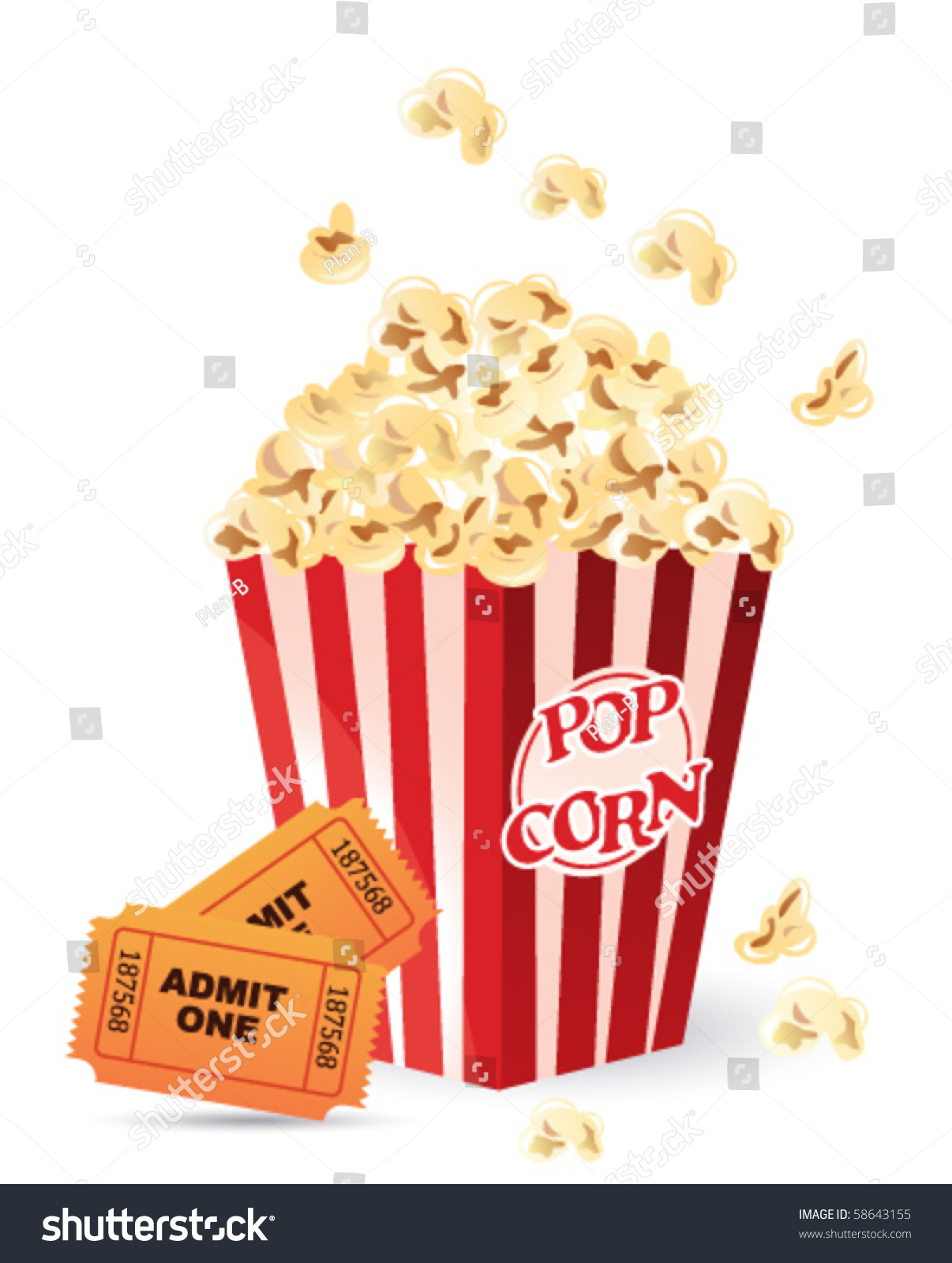1836 Popcorn free clipart.
