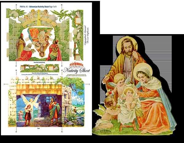 Bohemian Nativity Sheet.