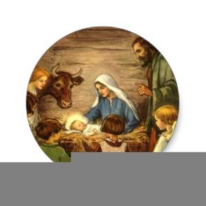 Vintage Nativity Clipart.