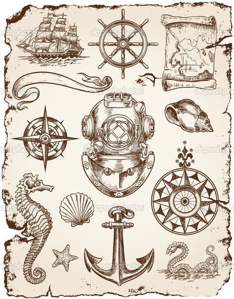 Nautical clipart vintage, Nautical vintage Transparent FREE.