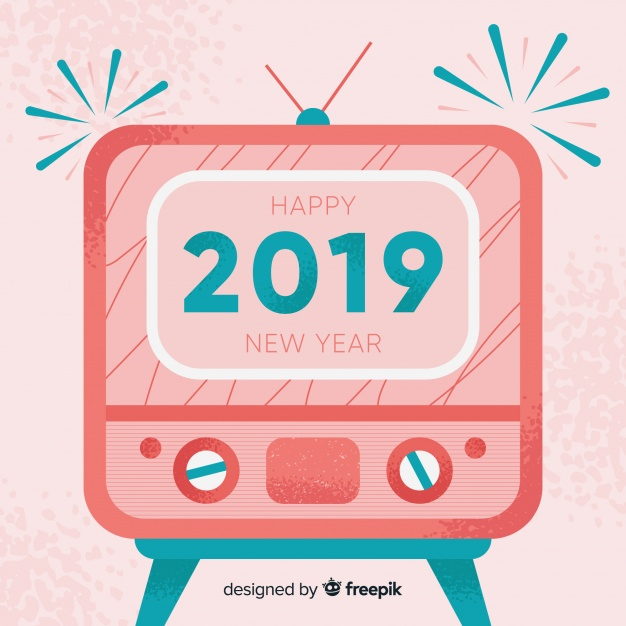 Vintage new year 2019 background Vector.