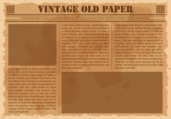 Old Vintage Newspaper.