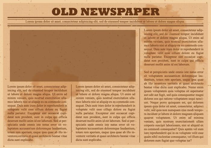 Old Newspaper Vector.