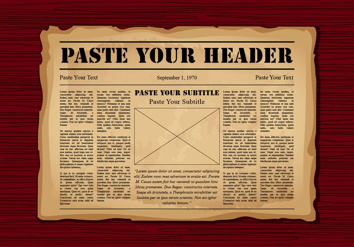 Old Newspaper Vector Templates.