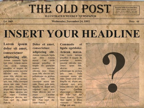 Free Editable Old Newspaper Powerpoint Template.