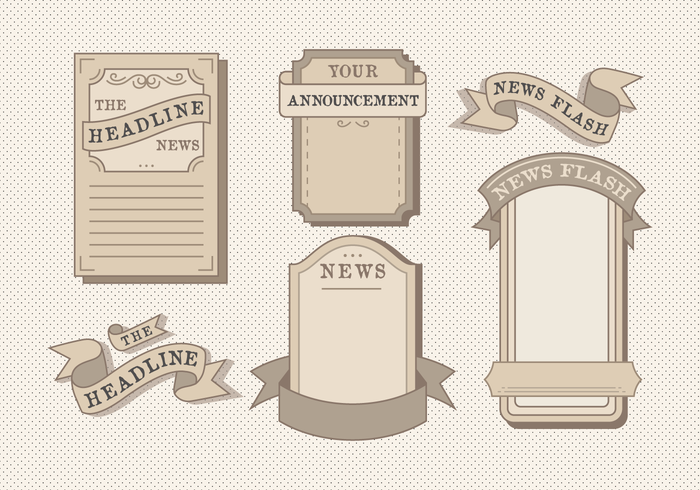 Old Vintage Newspaper Vector Pack.
