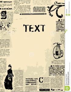 Free Vintage Newspaper Clipart.