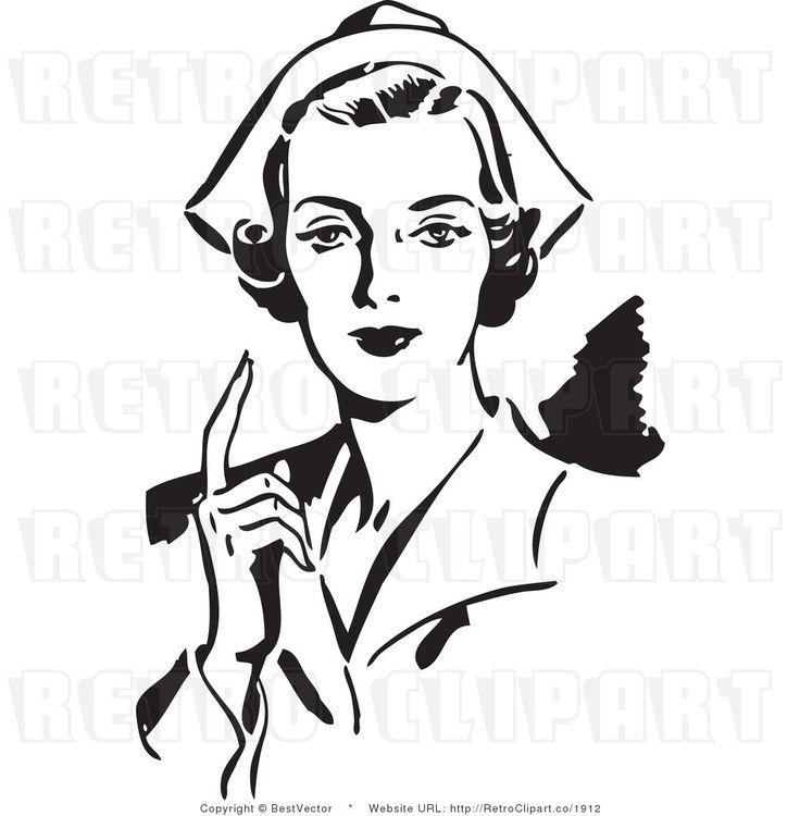 vintage nurse clipart #15
