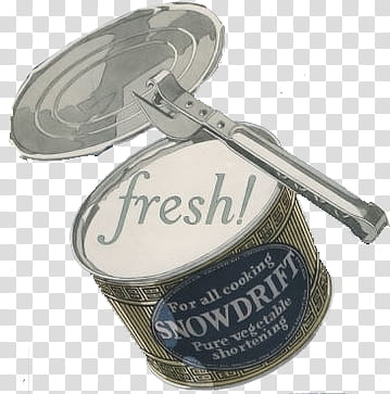 Vintage things s, snow drift pure vegetable shortening can.