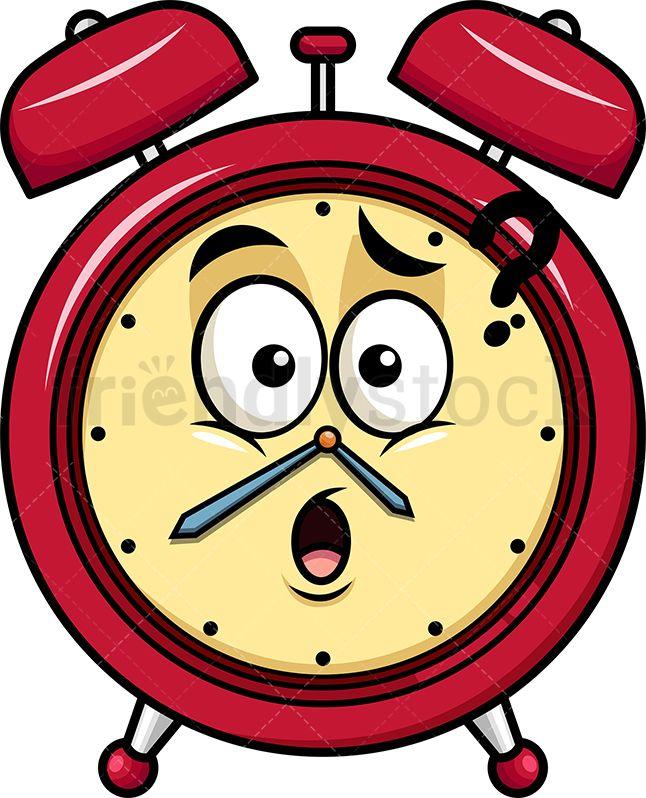 Confused Alarm Clock Emoji.
