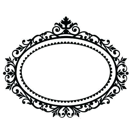 oval antique frame.