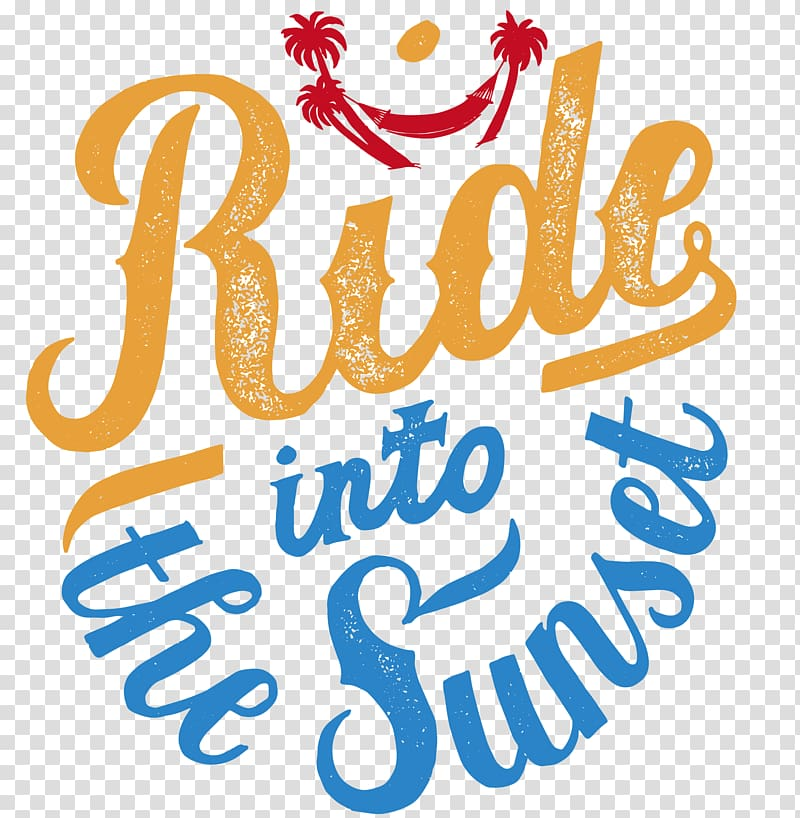Hammock illustration with ride into the sunset text overlay.