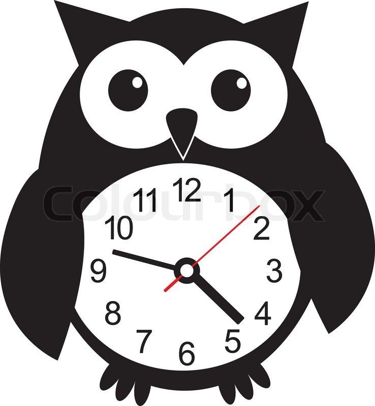 Cute Clock Clipart Black And White.